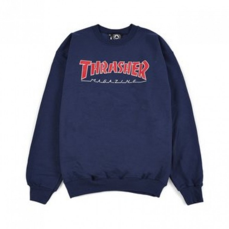 Кофта Thrasher Outlined Crew Neck Navy Blue