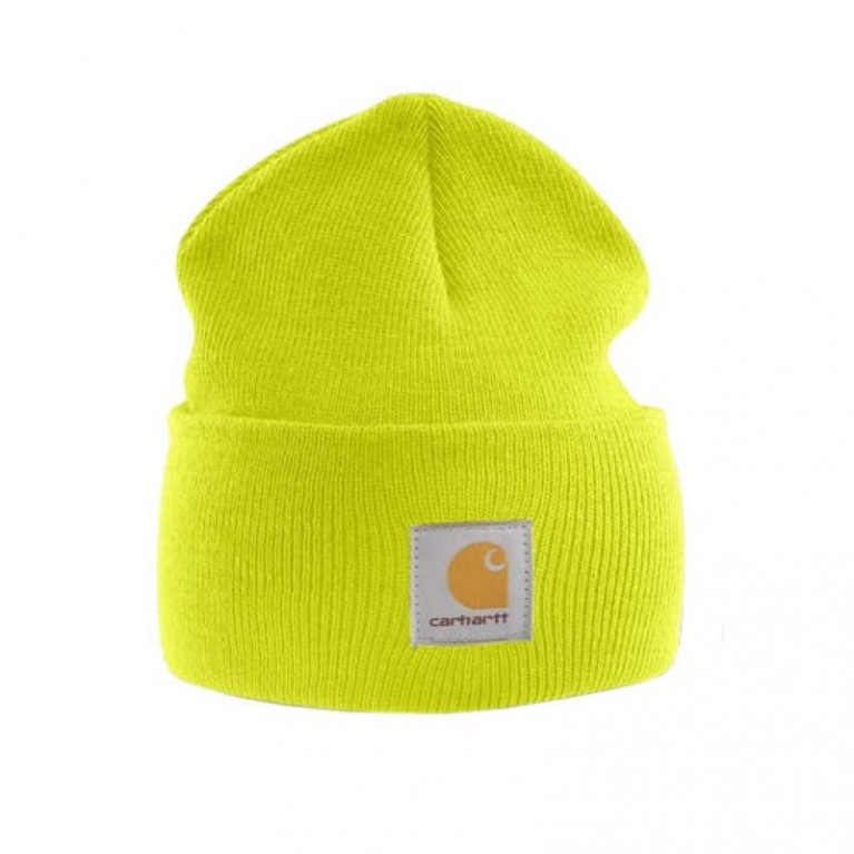 Шапка Carhartt ACRYLIC WATCH HAT brite lime
