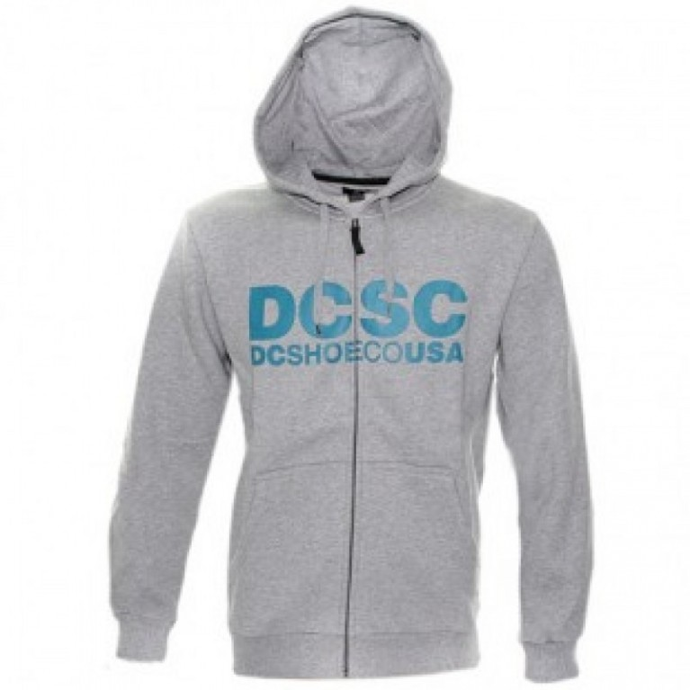 Толстовка DC DeeCee Zip Hoody - Heather Grey - Large