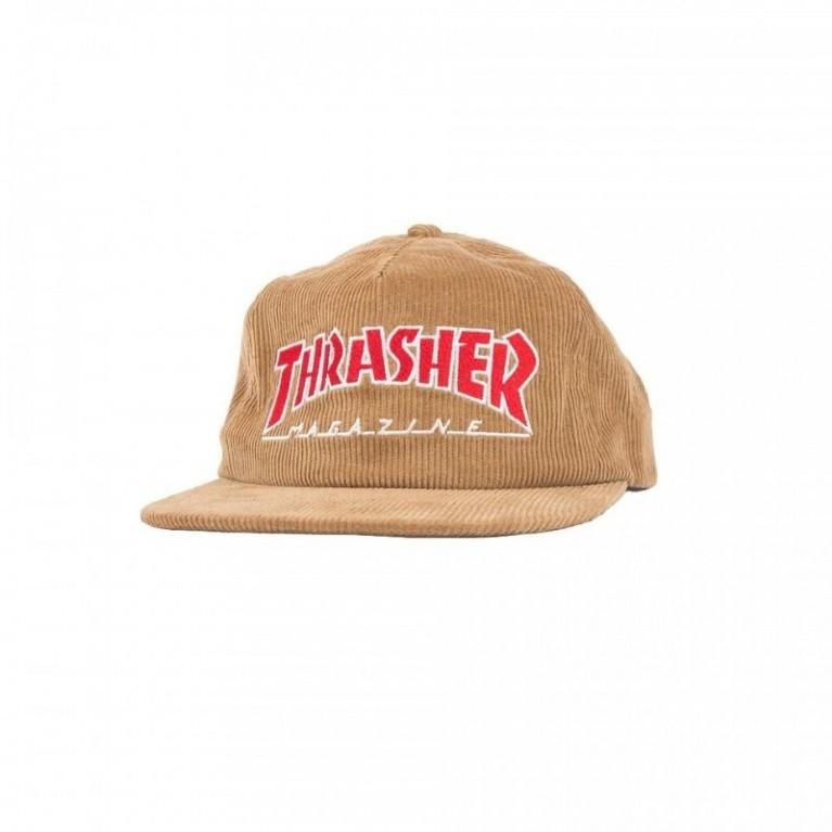 Кепка Thrasher Corduroy Snapback Gold