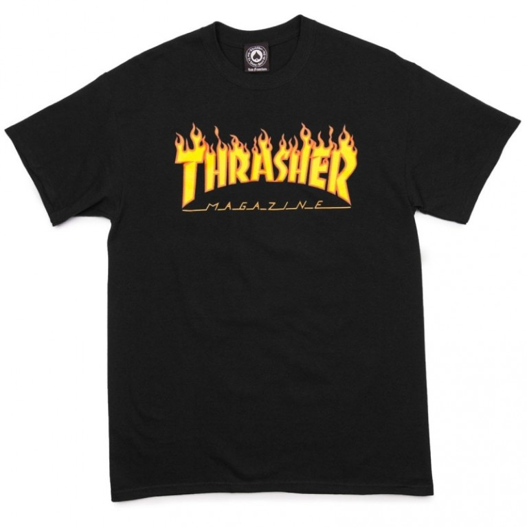 Футболка Thrasher Flame Logo T-Shirt Black