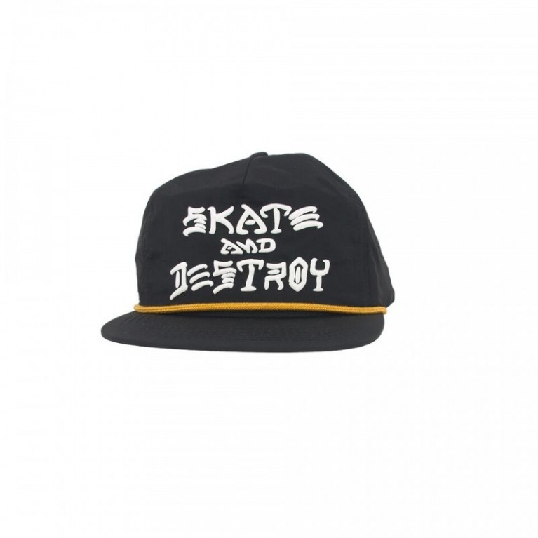 Кепка Thrasher Skate And Destroy Puff Ink Snapback Black