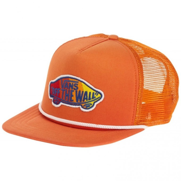 Кепка Vans Classic Patch Trucker Hat (Sunfade Orange) Hats
