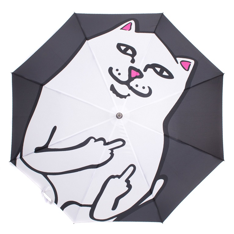 Зонтик Ripndip Lord Nermal Umbrella Black