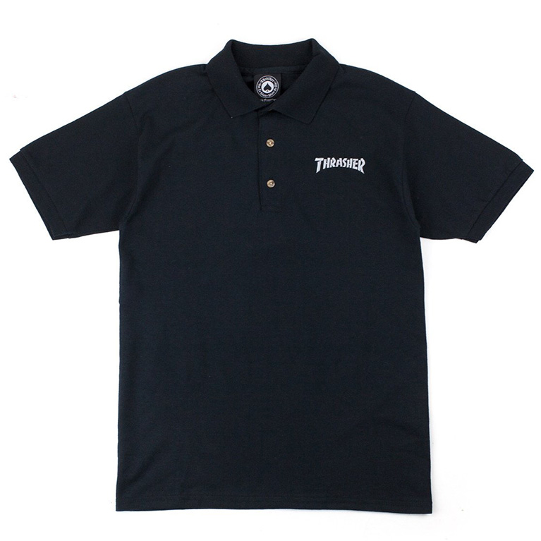 Поло Thrasher Logo Polo Black