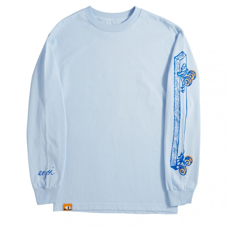 Лонгслив Enjoi Skateboarding Powder Blue