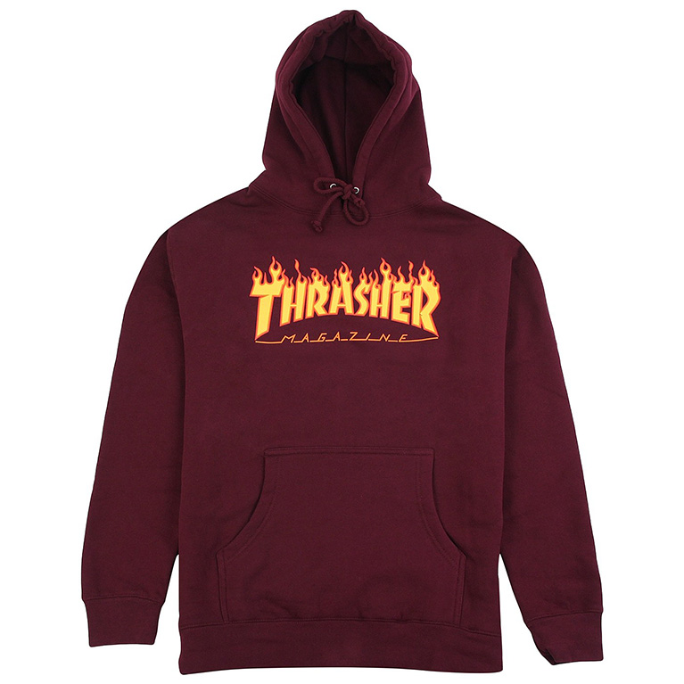 Толстовка Thrasher Flame Hoodie Maroon