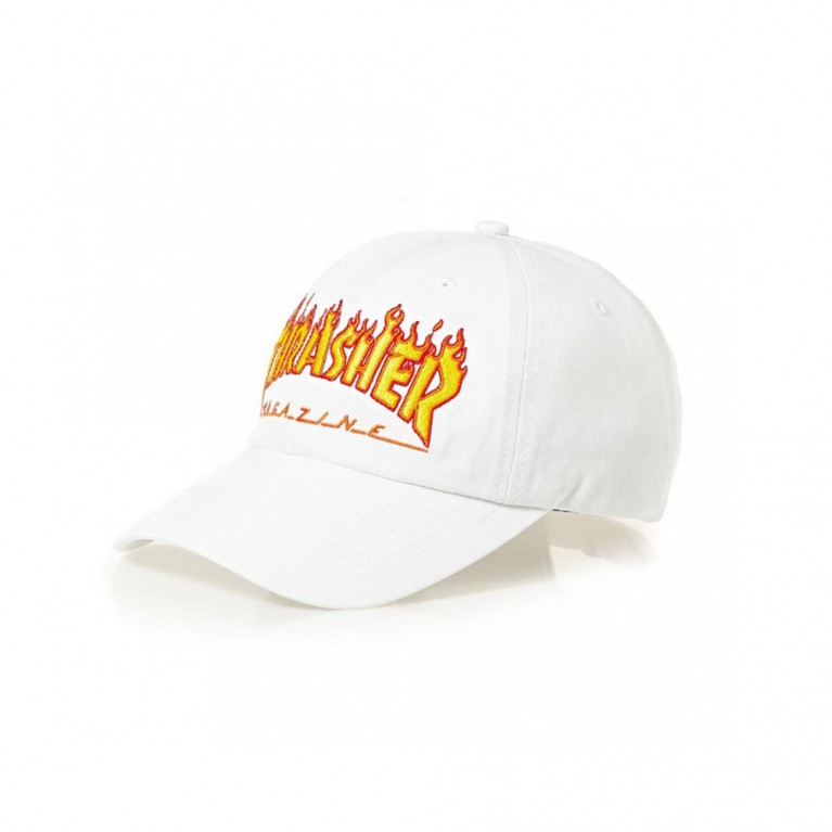 Кепка Thrasher Flame Old Timer Hat White